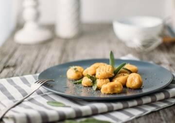 Kürbis-Gnocchi mit Salbei-Butter