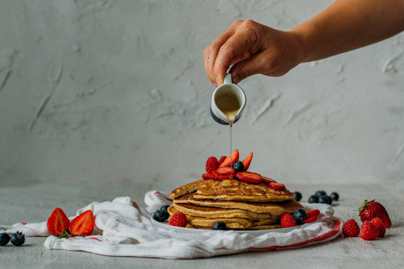 Leinsamen Pancakes