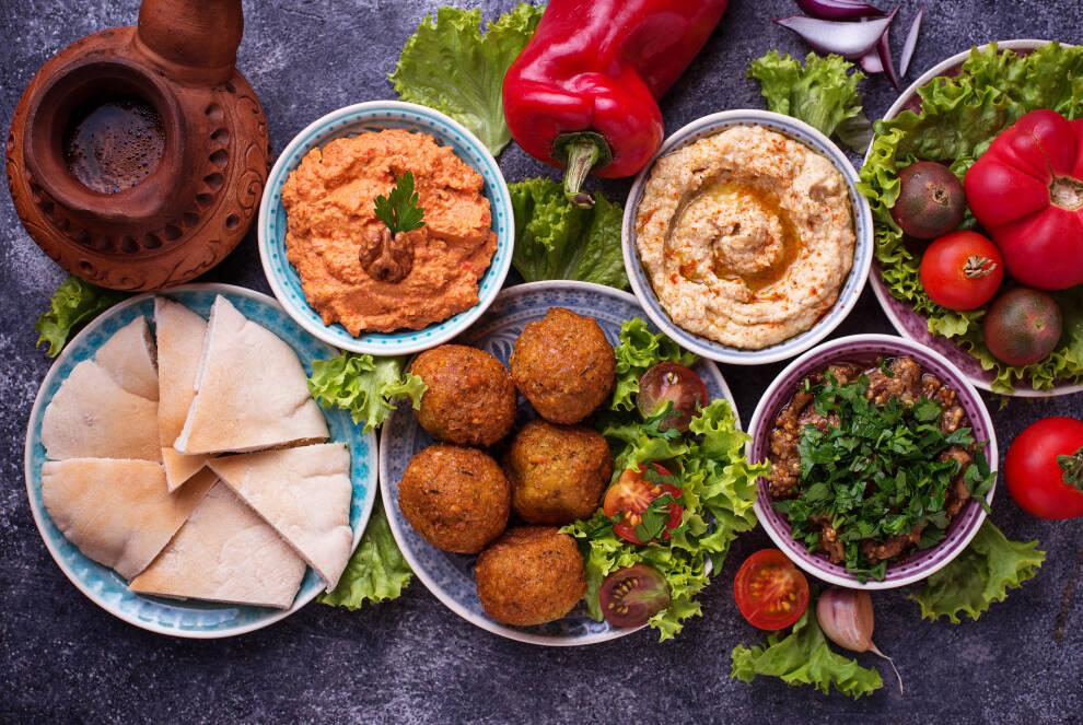 Levante-Küche: Gedeckte Tafel