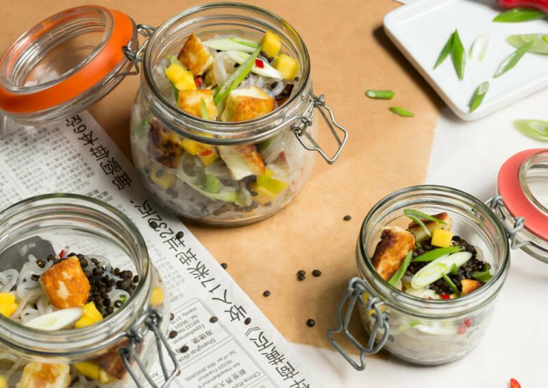 Linsen-Nudel-Salat
