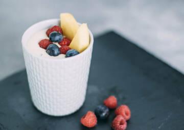 Mango-Quark-Dessert