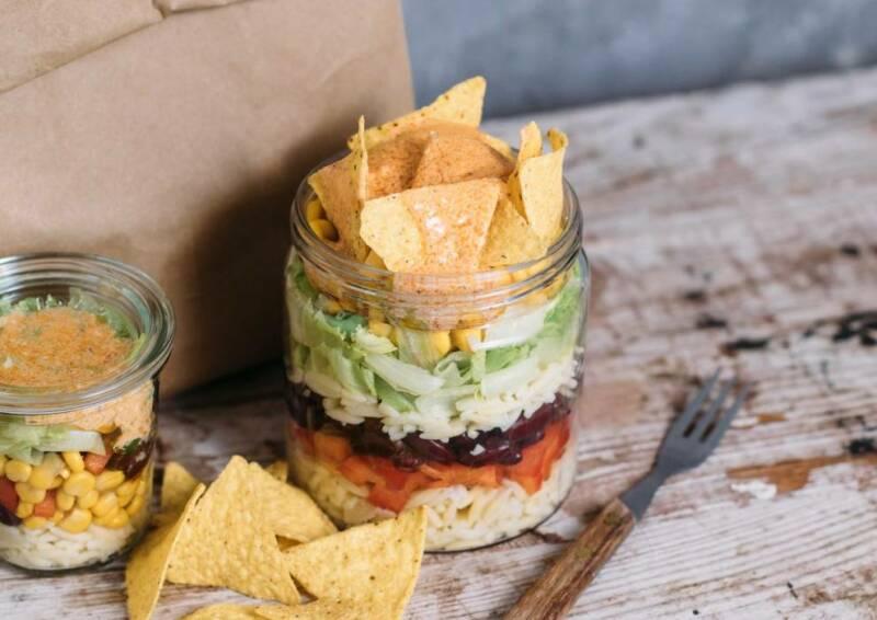 Mexikanischer Khitaraki Nudelsalat