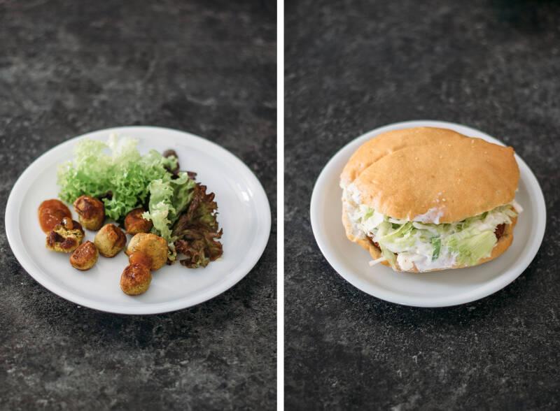 Mittagessen Challenge: Falafel Collage