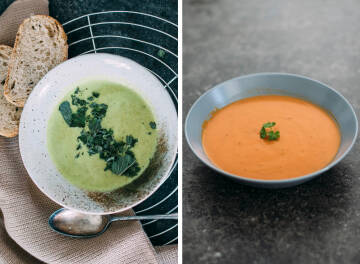 Mittagessen Challenge: Suppe Collage