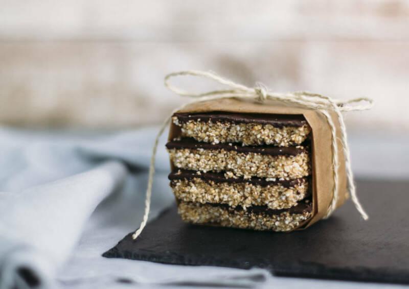 Monatsrückblick Mai: Amaranth Erdnussbutter Bars to go
