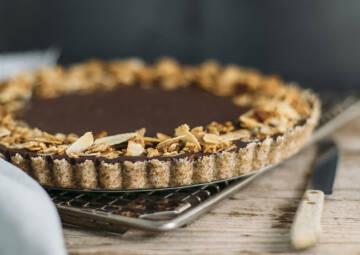 No bake Schoko-Nuss-Tarte