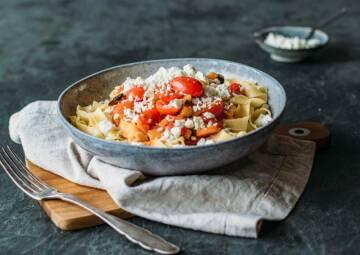 Nudeln Tomate Feta