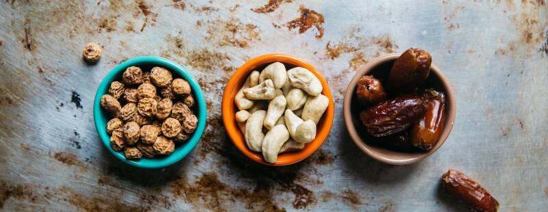 Nüsse und Trockenobst