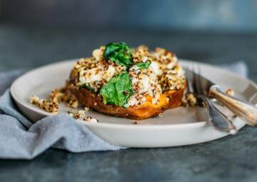 Ofensüßkartoffel mit Quinoa
