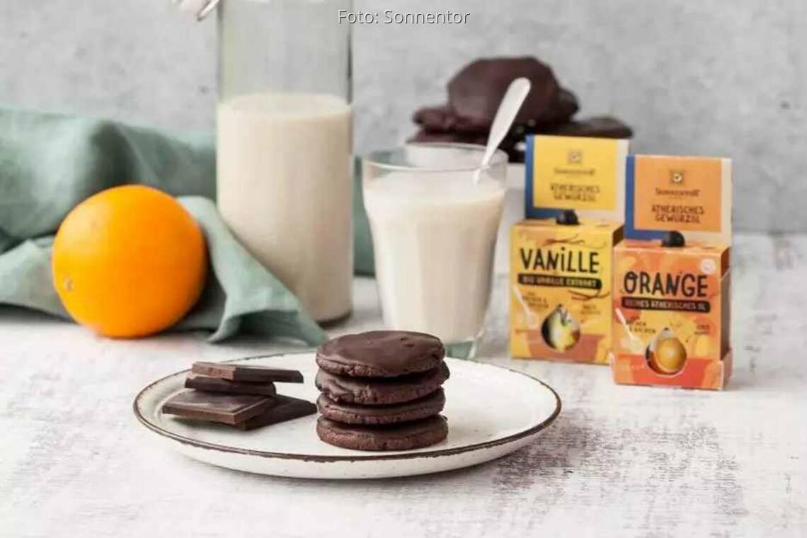 Orangen-Schokolade-Kekse Rezept von Sonnentor