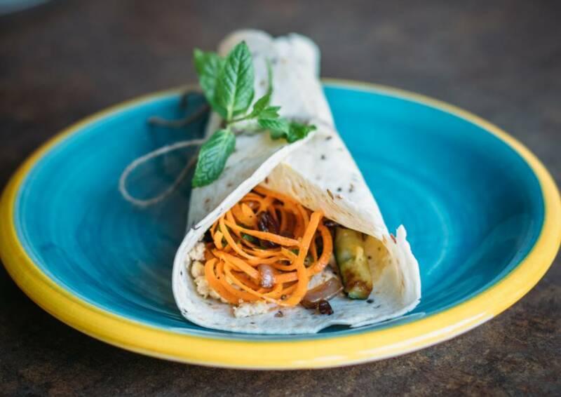 Orientalischer Karotten-Wrap