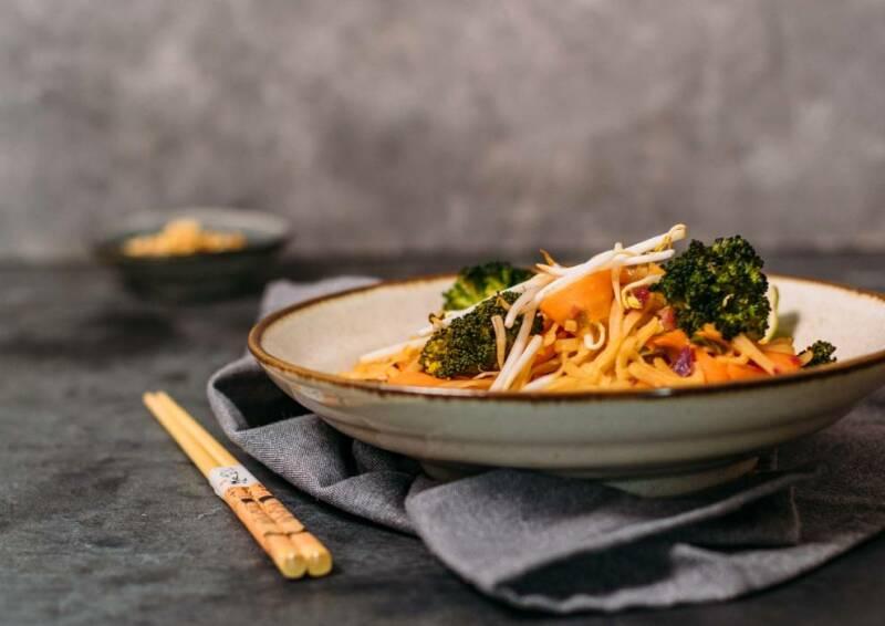 Pad Thai mit Brokkoli