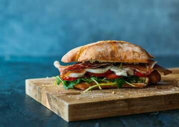 Parmaschinken-Sandwich