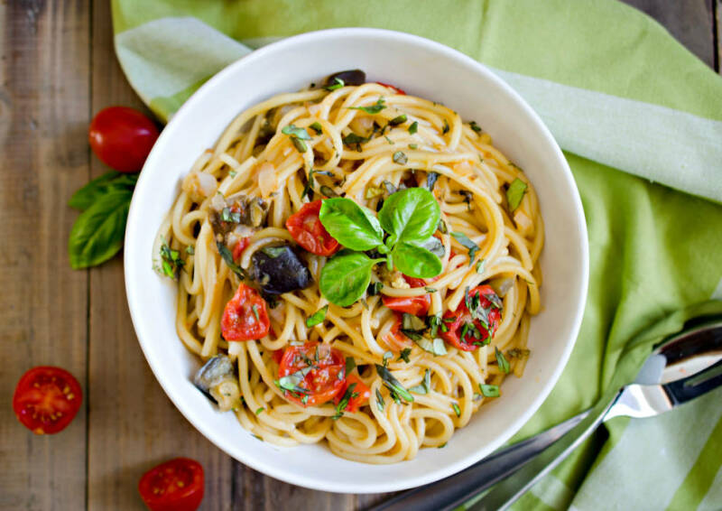 pasta mit auberginen