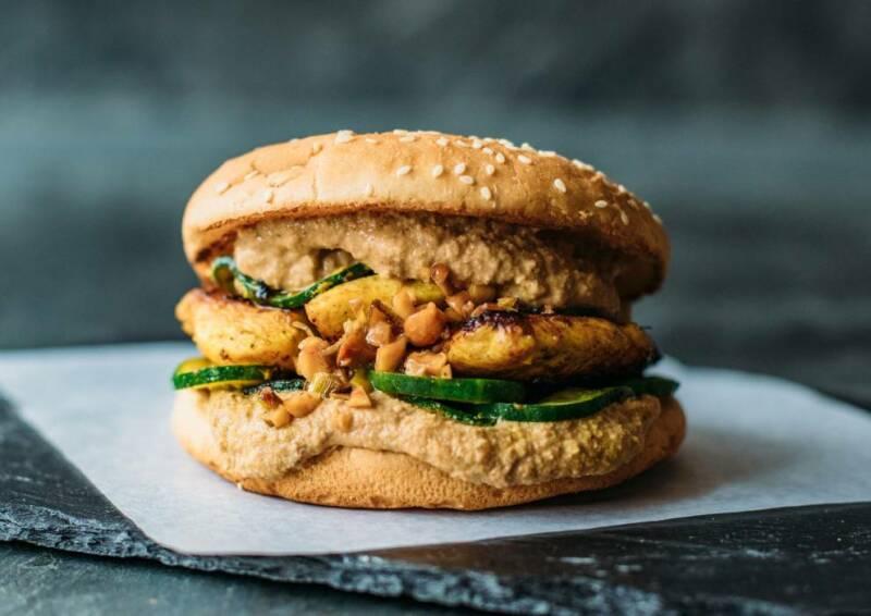Peanut Sate Burger