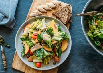 Pfirsich-Forellen-Salat