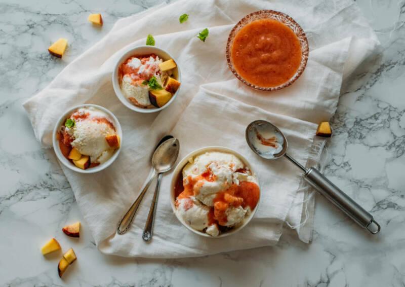 Pfirsich-Joghurt-Eis