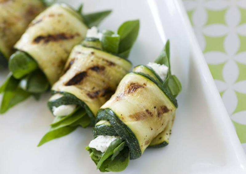 Pikante Zucchiniröllchen