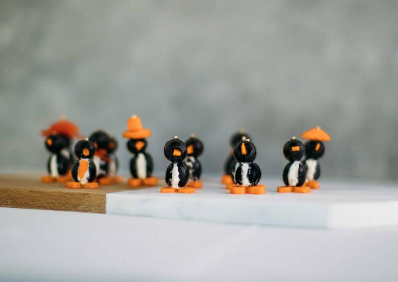 Pinguine aus Oliven