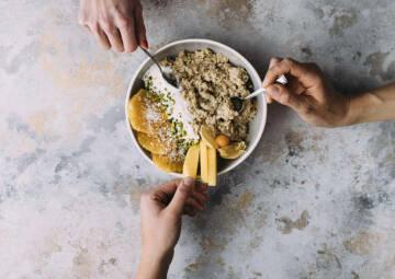 Porridge mit Toppings