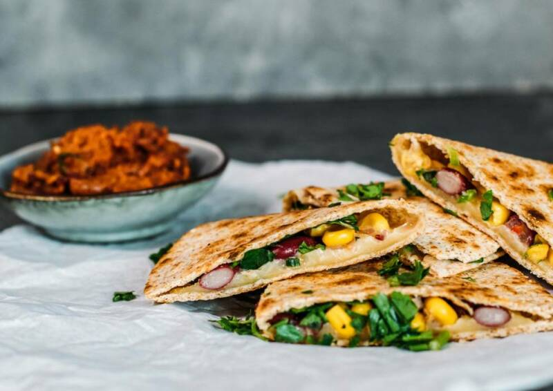 Quesadillas mit Gemüse