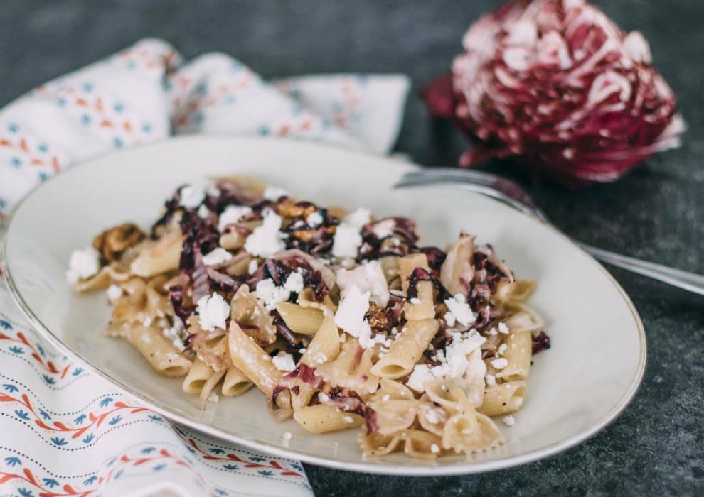 Radicchio-Feta-Pasta