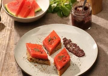 Rezeptbild gegrillte Wassermelone