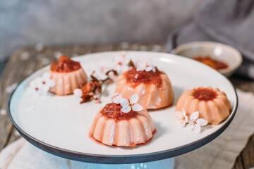 Rhabarber-Pudding