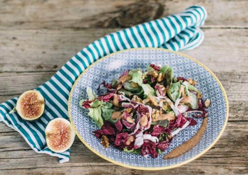 Salat mit Feigendressing