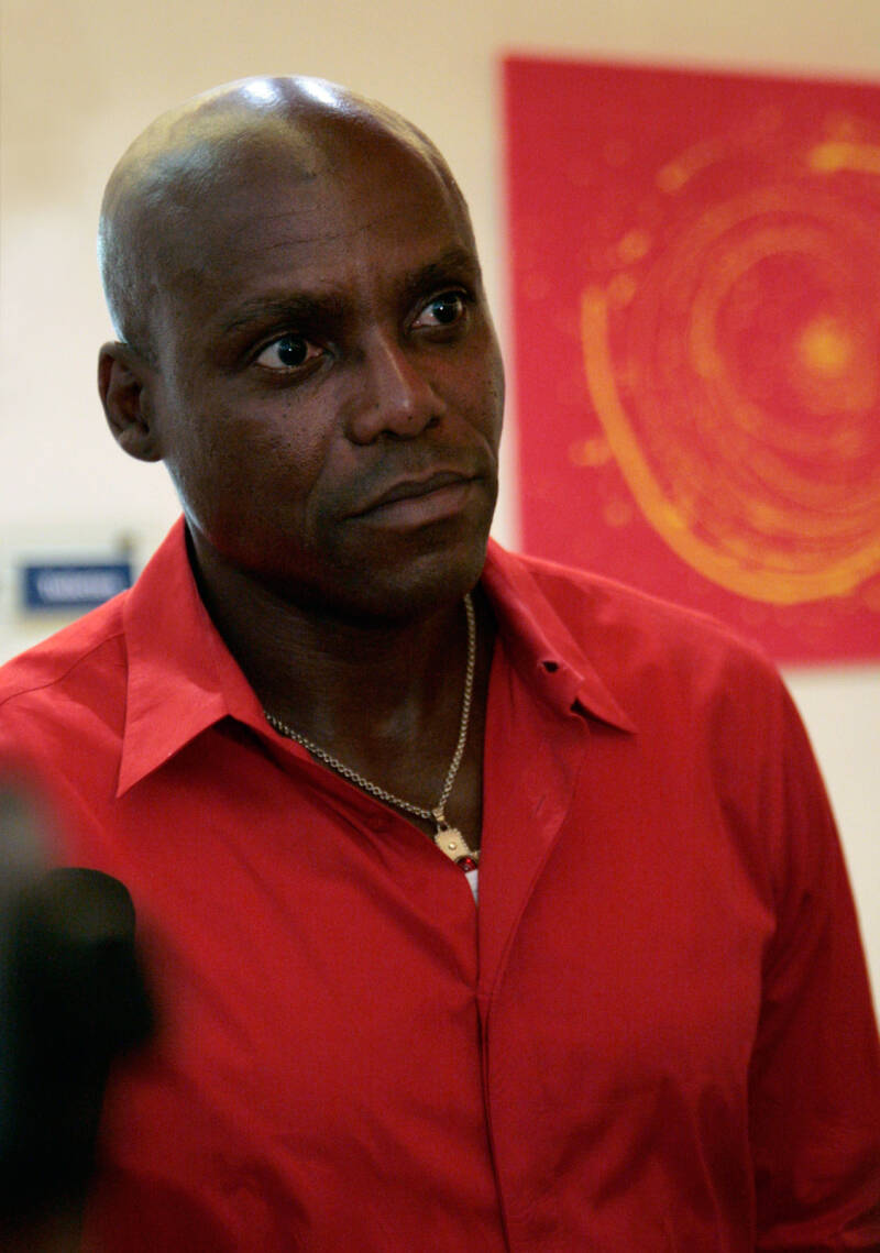 Save The World Awards 2009 press conference - Carl Lewis 2