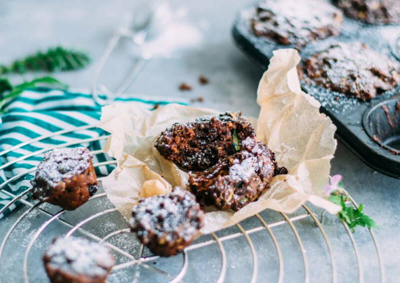 Schokoladige Zucchini-Muffins