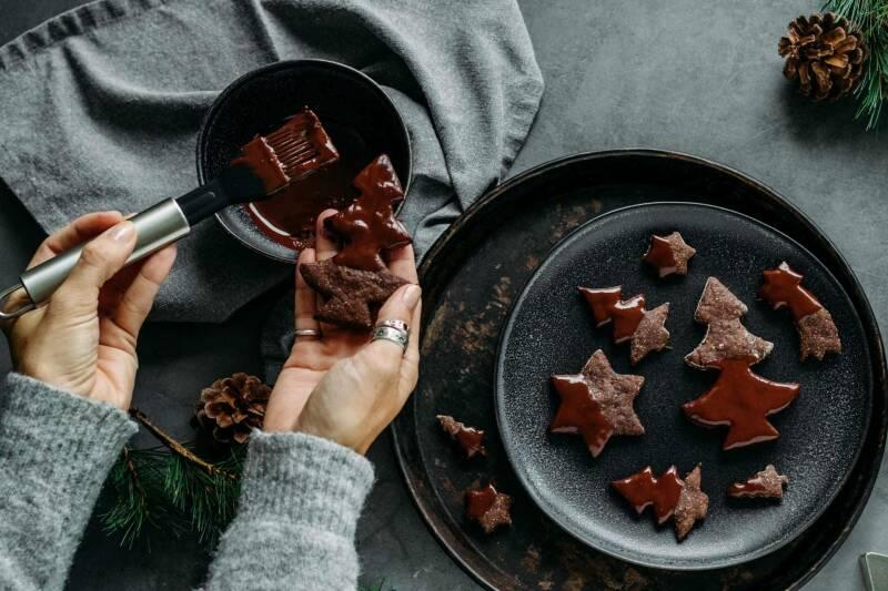 Schokoladige Zucchiniplätzchen