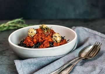 Schwarze Bohnen Spaghetti