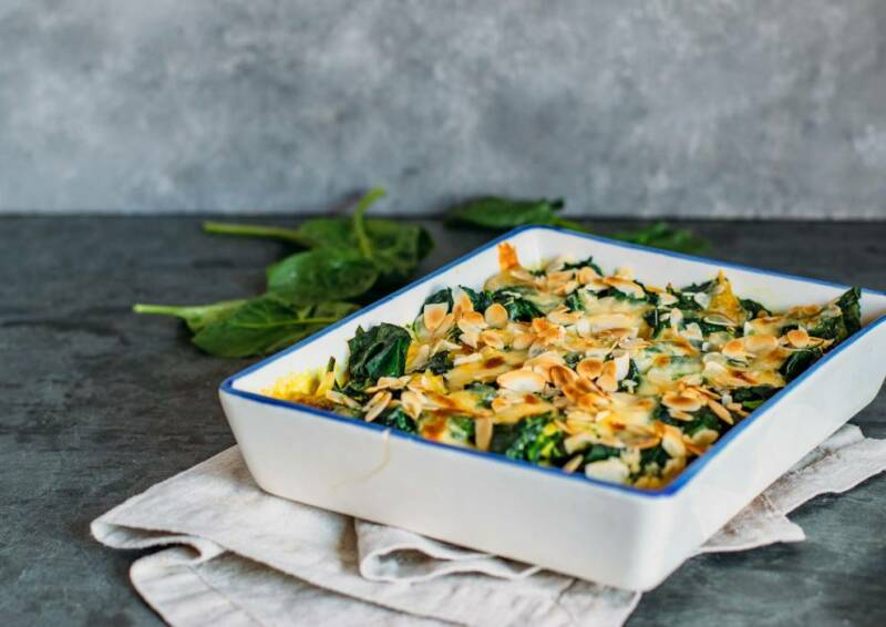 Spinat-Gnocchi-Auflauf mit Curry