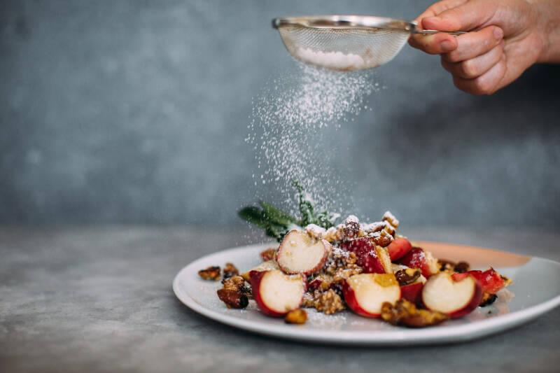 Süßes Grillen: Karamellisierte Pfirsiche