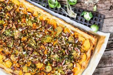 Süßkartoffel-Blätterteig-Tarte