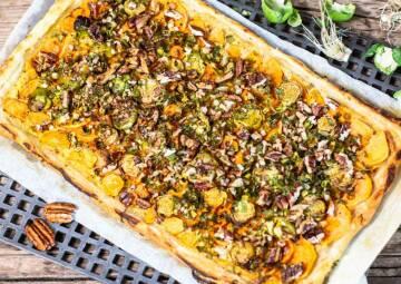 Süßkartoffel-Blätterteigtarte