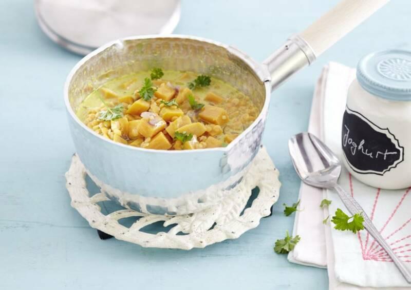 Süßkartoffel-Linsen-Curry