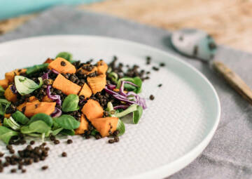 Süßkartoffel-Linsen-Salat