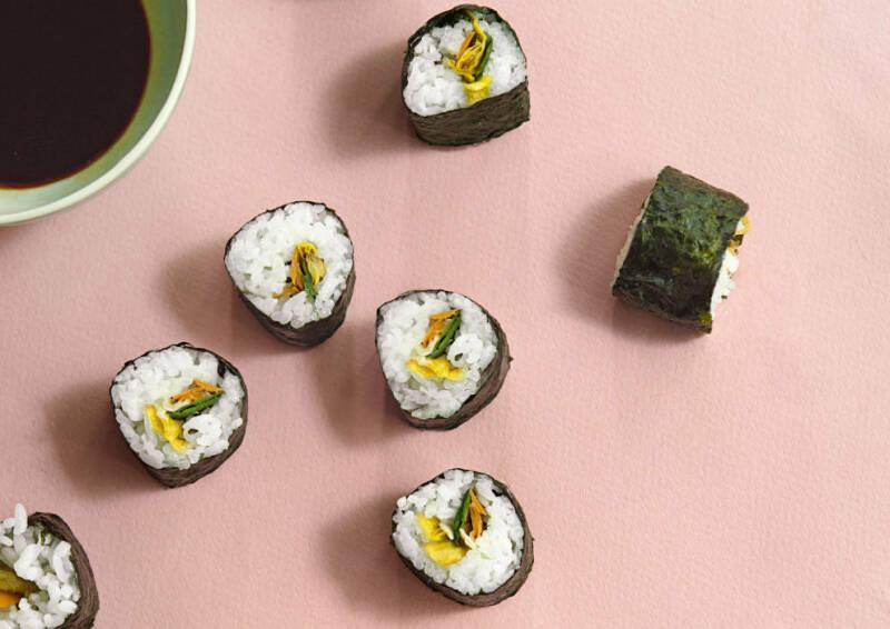 Sushimaki aus Gemüseschalen