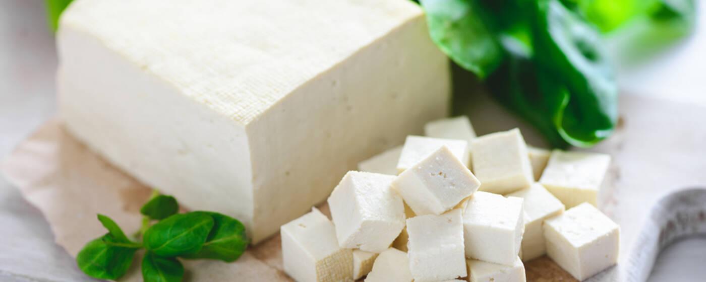 weißer Natur Tofu