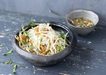 Tofu für Einsteiger: Reisnudeln mit scharfem Tofu