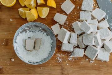 Tofu in Stärke