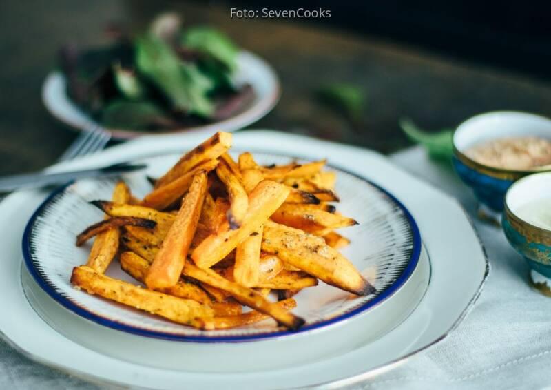 Vegan auf Festivals: Süßkartoffel Pommes