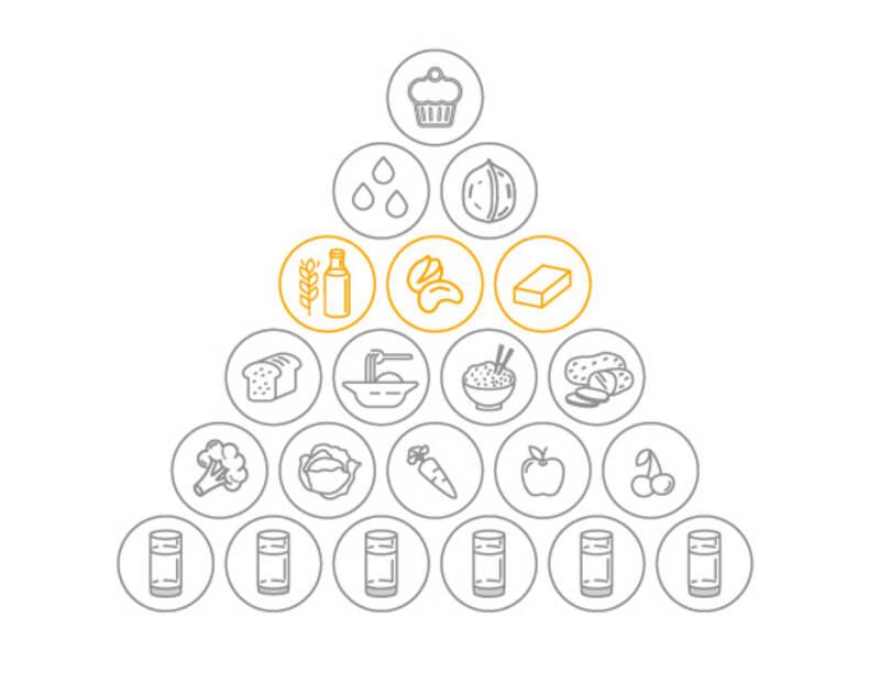 Vegane Ernährungspyramide: Eiweiß