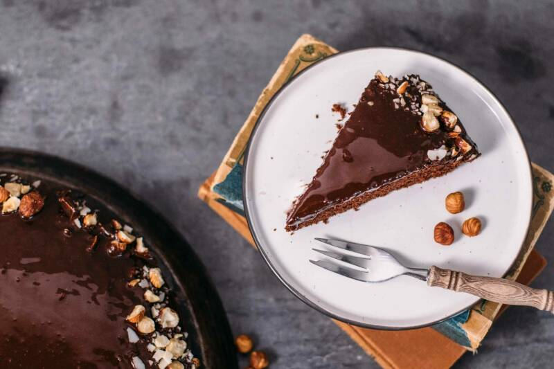Veganer Schokoladenkuchen mit Schokoglasur