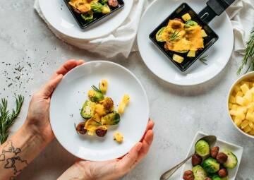 Veganes Raclette-Pfännchen