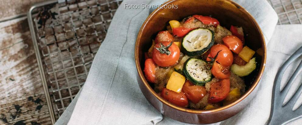 Veganes Rezept: Amaranth vom Blech mit Ofengemüse_2
