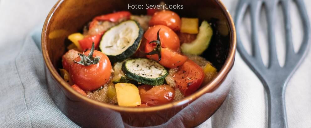 Veganes Rezept: Amaranth vom Blech mit Ofengemüse_3