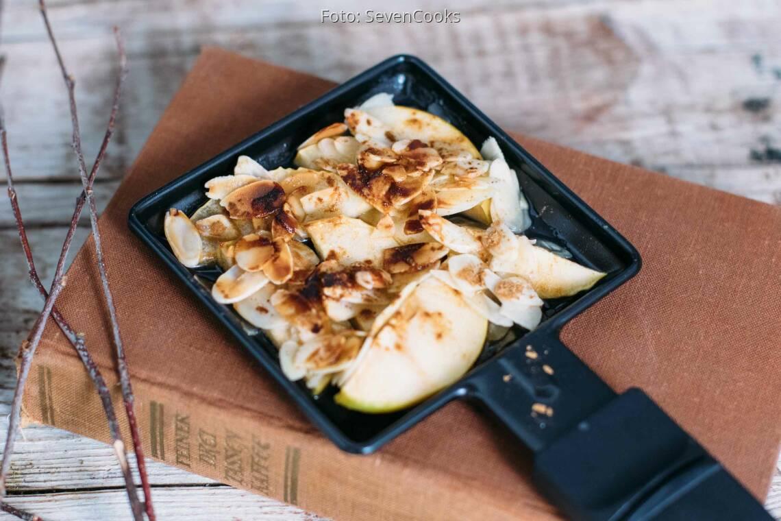 Veganes Rezept: Apfel-Mandel-Zimt-Pfännchen